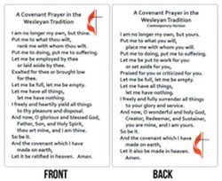 Wesley Covenant Prayer Card Traditional/Contemporary Package of 100