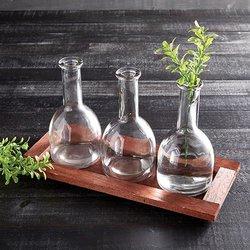 Three Flower Vase Tray