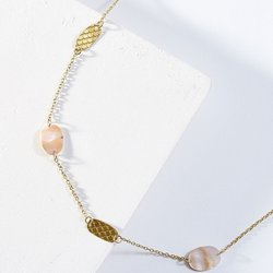 Necklace Dhavala Pearl Coin