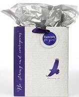 Gift Bag Eagle Medium Be Strong Deut 31:6