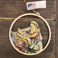 Ornament Nativity Resurrection Window