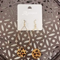 Earrings Cheetah Print Drop