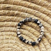 Bracelet Kantha Chromatic Black White