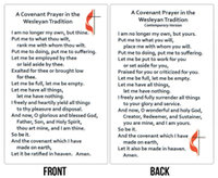 Wesley Covenant Prayer Card Traditional/Contemporary Package of 25