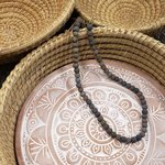 Necklace Kantha Chromatic Grey