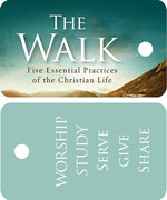 Walk Key Tag Five Essential Practices of the Christian Life (pkg of 30)