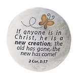 Magnet pewter 1 Cor 5:17 New creation