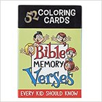 Coloring Cards For Kids Bible Memory Verses